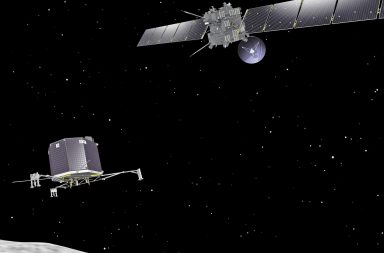 Rosetta spacecraft, Philae lander and comet
