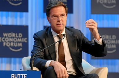 DAVOS/SWITZERLAND, 24JAN13 -  Mark Rutte, Prime Minister and Minister of General Affairs of the Netherlands gestures during the session 'Eurozone Crisis - Building Resilient Institutions' at the Annual Meeting 2013 of the World Economic Forum in Davos, Switzerland, January 24, 2013.  Copyright by World Economic Forum  swiss-image.ch/Photo Monika Flueckiger